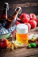 koud en vers bier met appels