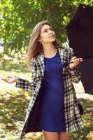 meisje met een paraplu