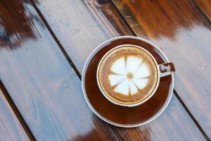koffiekopje op tafel foto