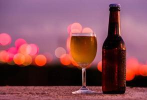 glazen bier foto