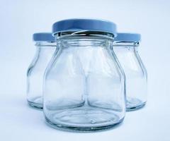 glazen fles foto