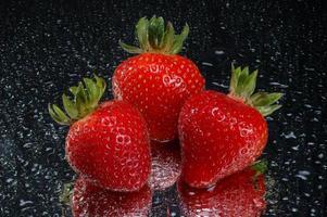 touw aardbeien foto