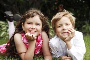 broer en zus foto