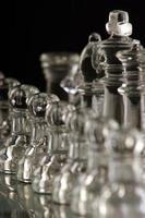 abstracte schaakstukken foto