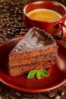 chocolade sacher cake foto