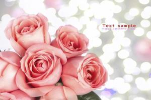 achtergrondafbeelding van roze rozen foto