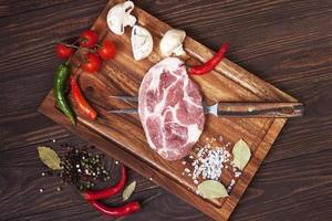 rauw vers vlees foto