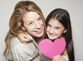 gelukkige moeder en dochter foto