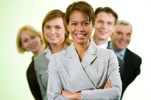 zelfverzekerde werkgever foto