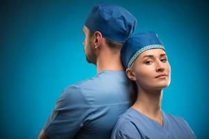 hard werk van artsen foto