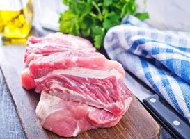 rauw vlees foto