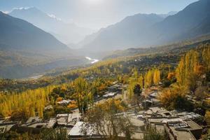 herfst in hunza nagar-vallei foto