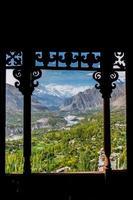 een landschapsgezicht van de nagar hunza-vallei foto