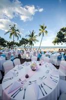 restaurant aan het strand foto