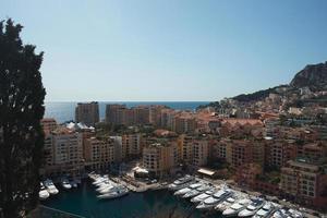 boten in een baai van Monaco foto