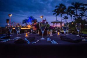 maanverlichte diner foto