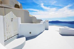 het huis op het eiland Santorini, Griekenland foto