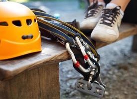 zip-line uitrusting foto
