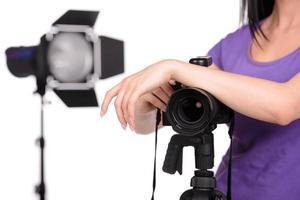 fotograaf op het werk foto