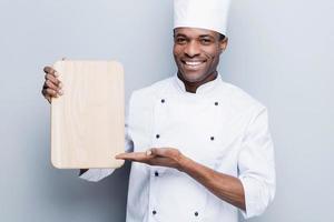 speciale aanbieding van chef. foto