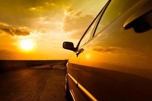 hoek shot van een auto foto
