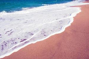 zee strand, zand begraund foto