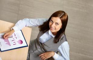 zakenvrouw op het werk foto