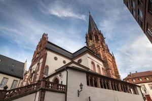 stiftskirche aschaffenburg duitsland foto