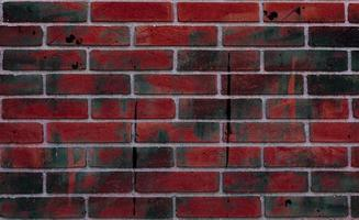 rode bakstenen muur foto