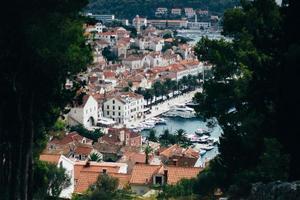 ingelijste luchtfoto van de stad foto