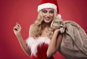 zware zak vol kerstcadeaus