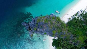 luchtfotografie van het eiland