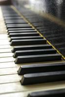 vintage piano toetsen foto