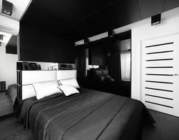 mooi interieur van europese slaapkamer foto