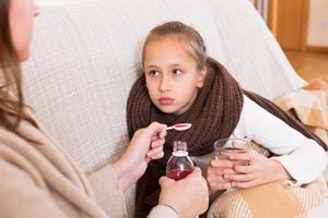 zieke dochter foto