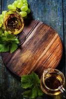 glas witte wijn foto