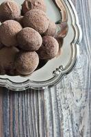 chocolade truffels foto