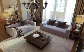 woonkamer art deco en moderne stijl