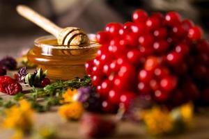 honing en kruiden foto