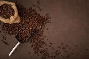 koffie achtergrond met kopie ruimte foto