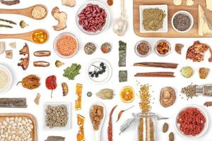 superfood op witte achtergrond foto