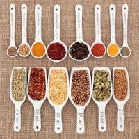 kruiden en specerijen meting foto