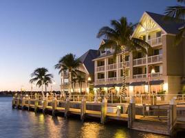 luxehotels in key west bij zonsondergang foto