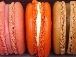 zoete en kleurrijke Franse bitterkoekjes foto