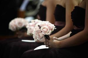 bruidsmeisje bloemen foto