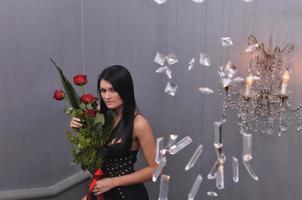 bloem en meisje foto