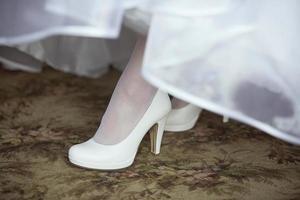 schoen van de bruid foto