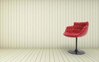 werken en dtudio kamer / 3D render afbeelding luxe vintage foto