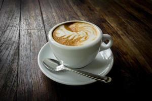 koffie met melk foto