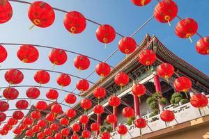 Chinese rode lantaarns foto